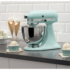 KitchenAid Artisan Series 5 Qt. Stand Mixer in Ice Blue-KSM150PSIC - The Home Depot