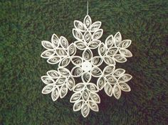 Quilling Snowflake Pattern | Delicate Quilled Snowflake Decoration from joanscrafts