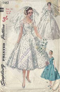 schnittmuster vintage hochzeitskleid