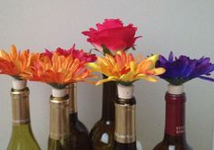 A personal favorite from my Etsy shop https://www.etsy.com/listing/267195703/10-flower-wine-bottle-stoppers