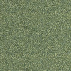 Tulip & Willow Wallpaper - 'Tulip & Willow' was Morris' second fabric to be printed originally by Bannister Hall in 1873 and then at Merton Abbey and is still available today. Here the design has been simplified and adapted for wallpaper by the removal of the tulips but the provenance remains. This is an easy to use all-over leaf pattern with delicate shading and tone.