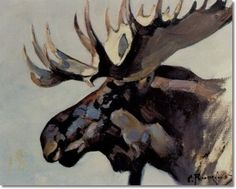 another moose.  They're my fave.  Carl Rungius - Moose Head Archival Fine Art Paper Print