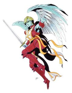"""Uriel-Persona 2 version.In Abrahamic religion, Uriel was a high ranking archangel who was listed as the fourth angel that represented the four cardinal points, the others being Michael, Gabriel and Raphael. Although he is never mentioned by name in any of the widely accepted holy scriptures, he came to be known as Uriel which means """"Flame of God"""" for his depiction of holding a flaming sword. According to the Apocrypha, Uriel was the guardian to the gates of the Garden of Eden."""