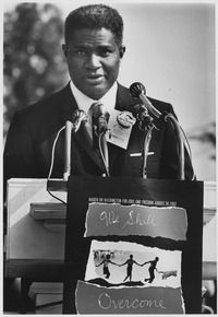 OSSIE DAVIS, (Emmy Award and Grammy Award-winning, American film, television and Broadway actor, director, poet, playwright, author, and SOCIAL ACTIVIST), at the 1963 Civil Rights March on Washington, DC.