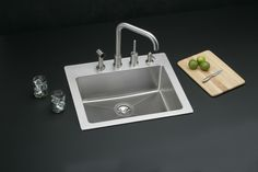Signature Plus Stainless Steel Single Bowl Dual / Universal Mount Sink HD322425