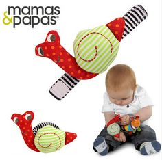 Free Shipping Lovely Snail Baby Rattle Baby Toys Gift Plus