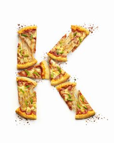 "Pizza letter ""K"". Part of the typography poster I did for a Singapore food review website - Hungry Go Where."