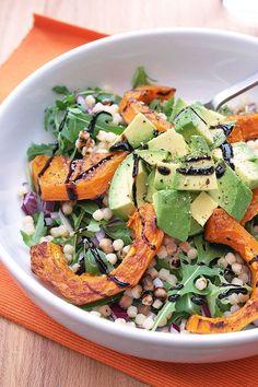 Butternut squash, rocket & avocado salad with balsamic glaze recipe