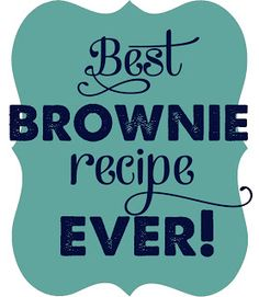 Best Brownies Ever {with a secret ingredient}