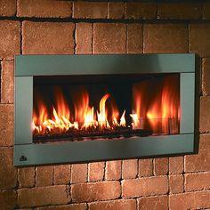 "Firegear Outdoor Linear Fireplace with 4"" Faceplate - NG #LearnShopEnjoy"