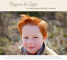 Follow the five easy steps in this Before & After photo editing tutorial featuring Photoshop.  Written by Amy Renea for @I Heart Faces | Photography