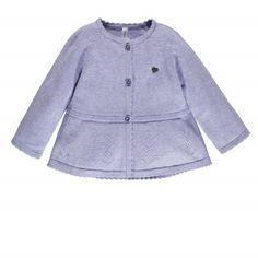 Naissance fille 0-12 mois Cardigan en maille effet robe Mauve