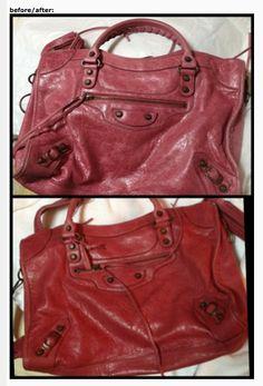 Balenciaga handbag - before and after Leather Honey. www.leatherhoney.com Leather  Conditioner abdd9083bb