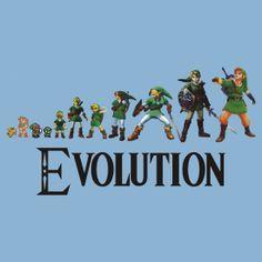 """Zelda Evolution"" T-Shirts & Hoodies by SkinnyJoe | Redbubble"