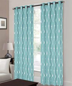 Turquoise Newbury Curtain Panel
