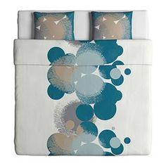IKEA - BOLLTISTEL, Dekbedovertrek met 1 sloop, 140x200/60x70 cm, , Beddengoed van satijngeweven lyocell/katoen is erg zacht en biedt een aangenaam slaapcomfort. Door de uitgesproken glans ziet het er prachtig uit op je bed.Lyocell houdt het bed 's nachts luchtig en fris omdat het transpiratievocht absorbeert en transporteert. Dit zorgt voor een gelijkmatige temperatuur als je slaapt.Door de blinde drukknopen blijft het dekbed op zijn plaats.