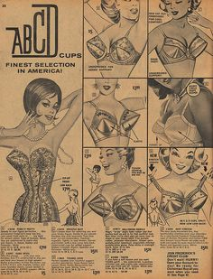 Back when there were only 4 bra cup sizes! Fall 1963 Frederick's of Hollywood catalog