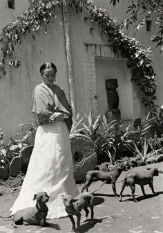 Frida en Coyoacán