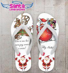 Chinelo Personalizado Feliz Natal, Papai Noel