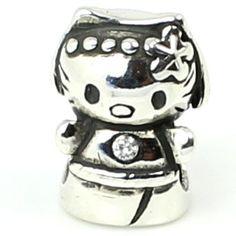 "925 Sterling Silver "" Hello Kitty "" Charm for Pandora Etc. European Story Charm Bracelet Sterling Silver "" Hello Kitty "" Charm for Pandora Etc. European Story Charm Bracelets 925"