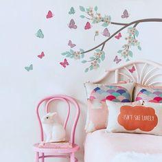 Adesivo de Parede Adesivo de Parede Jardim de borboletas | Grudado
