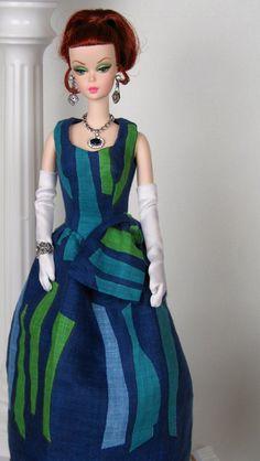 Striped Splendor dress for Silkstone Barbies by HankieChic on Etsy now