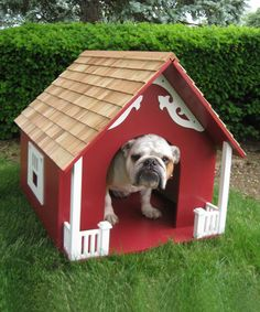 Nothing makes a house a home quite like an adorable pup.  Red Heart Dog House by Home Bazaar #zulilyfinds #zulily