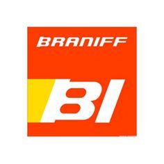 BRANIFF LOGO | Mid-Century MODERN / Braniff Poster BI Logo / SHOP ORIGINAL