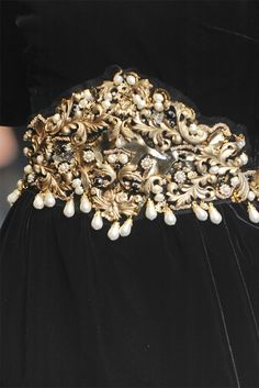 ~ black and gold and pearl belt
