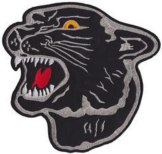 PANTHER HEAD PATCH LARGE $11.00 #patch #backpatch #panther