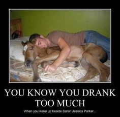 Sarah Jessica Parker in bed with drunkie