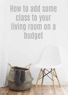 Add some class to your living room on a budget with these simple and effective interior design and decor tips for a n elegant and luxurious sophisticated lounge #livingroom #interiordesign #decor #home #abeautifulspace #frugal Trendy Home Decor, Cheap Home Decor, Diy Home Decor, Decor Crafts, Diy On A Budget, Decorating On A Budget, Tight Budget, Interior Decorating, Home Decor Bedroom