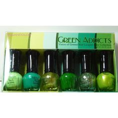 Amazon.com : Kleancolor Nail Lacquer Mini Collection - Green Addicts... (7.36 CAD) ❤ liked on Polyvore featuring beauty products, nail care and nail polish