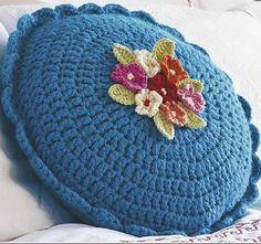 Вязание круглой подушки