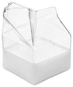 Glass Milk Carton Creamer - eclectic - food containers and storage - UncommonGoods