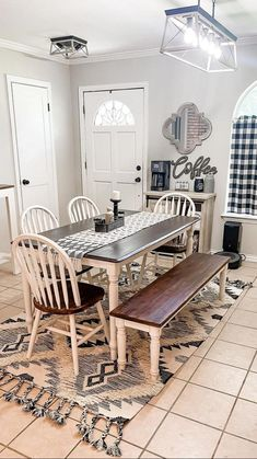Dining Room, Dining Table, Home Free, Unique Colors, Home Interior Design, Sweet Home, Area Rugs, Room Decor, Makeup Cosmetics