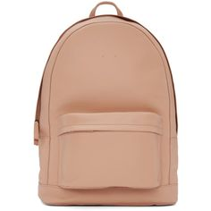 PB 0110 Pink CA6 Backpack ($790) ❤ liked on Polyvore featuring bags, backpacks, pink, red leather bag, red backpack, leather daypack, leather knapsack and leather backpacks