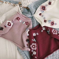 Aliexpress New Arrival Autumn Baby Sweater Hand-made Knitted Sweater Knitted Flower Sweater Pullover Childrens Sweater Coat Thick Clothes on Aliexpress IFound autumn Flower Knitted pullover Sweater Thick Baby Knitting Patterns, Knitting For Kids, Hand Knitting, Pull Bebe, Baby Girl Sweaters, Hand Knitted Sweaters, Knitted Baby, Knitted Flowers, Sweater Design