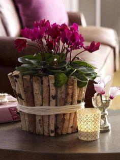vaso com material reciclado