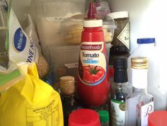 Arguing over whether the tomato sauce belongs in the cupboard or freezer.