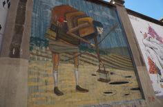 """El Muro de CHYLO en el Proyecto """"Muros"""".#ArteTabacalera Promoción del Arte #ArteUrbano #StreetArt Madrid Día8. #Arterecord 2014"""