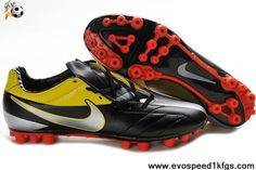 Low Price Black Yellow Red Nike Total90 Laser IV AG Shoes Store