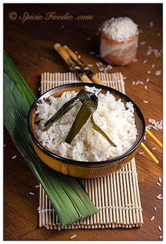 Pandan; Pandan leaves; coconut; coconut milk; rice; vegan; Vegetarian; healthy; Asian; quick; recipe; Spicie Foodie
