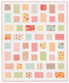 Super simple, quick and fun--Oh Happy Day quilt from the book Quilts Made with Love by Rachel Griffith.