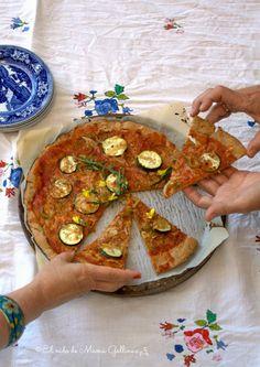 Receta de Bake The World: Pizza Mediterranea De Centeno (vegetariana)