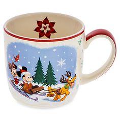 Disney Parks Santa Mickey Mouse and Friends Happy Holidays Coffee Mug - Themepark Warehouse Mickey Christmas, Christmas In July, Christmas Mugs, Disney Tassen, Disney Souvenirs, Disney Parks, Walt Disney, Disney Coffee Mugs, Disney Cups