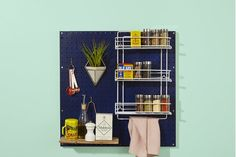 Pegboard for kitchens