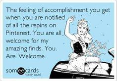 It ok keep repinning my pins! Repin away!