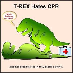 We have this T Rex ongoing joke at our house.just another T Rex issue with little arms Lol, Haha Funny, Funny Stuff, Cpr Funny, Funny Shit, That's Hilarious, Awesome Stuff, Medical Humor, Nurse Humor