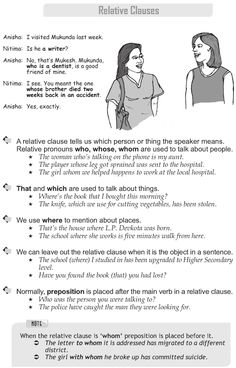 Learn English Team: Relative Pronouns (Defining / Non-Defining) Exercises English Grammar Rules, Grammar Book, Learn English Grammar, English Sentences, Grammar Lessons, English Writing, English Literature, English Words, English Lessons